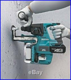 Makita DHR242Z 18v LXT SDS Rotary Hammer Drill + SDS Bits Chisel + Keyless Chuck