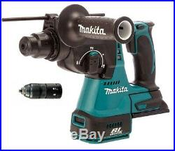 Makita DHR243Z 18V LXT Lithium Ion 3 Mode SDS Rotary Hammer Drill + QC Chuck