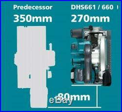 Makita DHS660Z 18v LXT Brushless Circular Saw 165mm Right Blade DHS680Z + Makpac