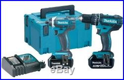 Makita DLX2131J 18v Twin Pack DHP482 Combi Drill + DTD152Z Impact Driver 3.0AH