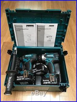 Makita DLX2145TJ 18V 2 x 5.0Ah 1 x 4.0Ah Batteries Combi Drill/Impact Driver Kit