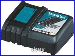 Makita DLX4104TJ1 Werkzeugset 18V DGA513 DHP481 DTD153 DHR243 3xAkku 2xKoffer