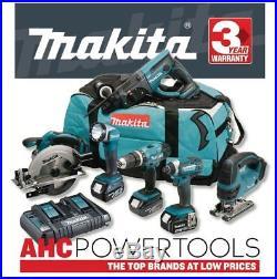 Makita DLX6068PT 18V li-ion 6 Piece Cordless Kit (3 x 5.0Ah Batteries)