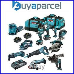 Makita DLX 18v LXT 11 Piece Power Tool Kit 4 x 5.0ah Batteries 2 Bags