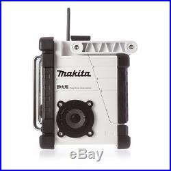 Makita DMR104W Jobsite DAB Radio, iPod & MP3 Aux UK CE (Black & White Edition)