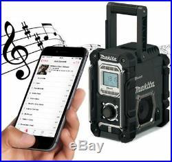 Makita DMR108B Site Radio Black Bluetooth AM FM 7.2- 18v/240v