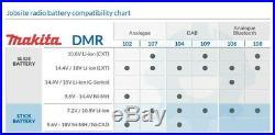 Makita DMR109W DAB 10.8v-18v White LI-ion Job Site Radio + 4AH Battery + Charger