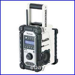 Makita DMR109W DAB 10.8v-18v White LI-ion Job Site Radio + Battery + Charger