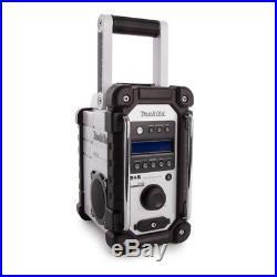 Makita DMR109W DAB Jobsite Radio FM/AM 7.2V-18V Aux-In Stereo Loud Speakers