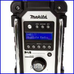 Makita DMR109W DAB LXT CXT 10.8v 18v White LI-ion Job Site Radio + 18v Battery