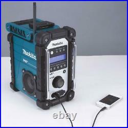 Makita DMR110W DAB PLUS DAB+ White Cordless Job Site Radio CXT 10.8v LXT 18v