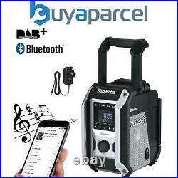 Makita DMR115B Black Digital DAB Site Radio DAB + Bluetooth USB Charger 18v LXT