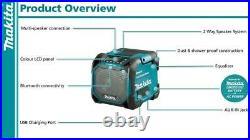 Makita DMR203 18v 10.8v 12v 240v CXT LXT Cordless Bluetooth Speaker LCD Display