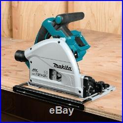 Makita DSP600PT2 36v Twin 18v Brushless Plunge Cut Circular Saw 1x Guide Rail
