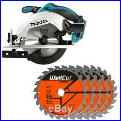 Makita DSS611Z 18V li-ion LXT Circular Saw + 1.5mm 5 Extra 24 Teeth Wood Blades