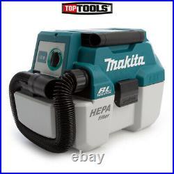 Makita DVC750LZ 18v LXT Brushless 7.5L L-Class Wet/Dry Vacuum Cleaner Body Only
