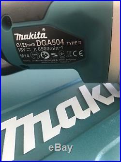 Makita Dga504z 18v Brushless Slide Switch 125mm Angle Grinder + Makpac Case