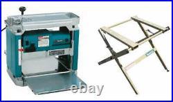 Makita Dickenhobelmaschine 2012NBX Dickenhobel 1.650W HSS-Messer Hobel Holz