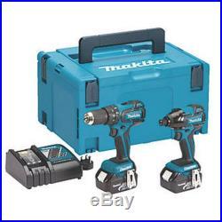 Makita Dlx2007mj 18v 4.0ah Li-ion Lxt Brushless Combi Drill & Impact Driver