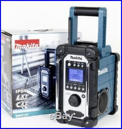 Makita Dmr107 Jobsite Radio Am/fm Compatible With Lxt & Cxt Batteries Body Only