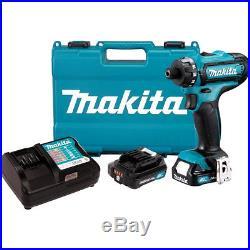 Makita FD06R1 12-Volt 1/4-Inch Max CXT Lithium-Ion Cordless Driver Drill Kit