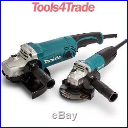 Makita GA9050 9/230mm & GA4530 4.5/115mm Angle Grinder Twin Pack DK0056 240V