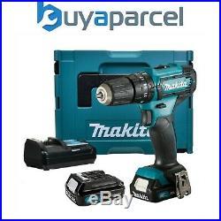 Makita HP331DWAE 10.8v 12v Max Lithium Ion Cordless CXT Combi Drill 2 Batteries