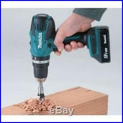 Makita HP457DWE 18v Lithium Combi Hammer Drill Includes 74 Screwdriver Bit Set