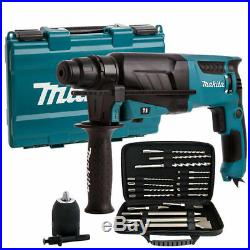 Makita HR2630 240V SDS+ 3 Mode Rotary Hammer Drill + Extra Accessories