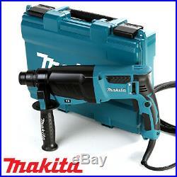 Makita HR2630 SDS+ 3 Mode Rotary Hammer Drill Extra Drills & Keyless Chuck 240V