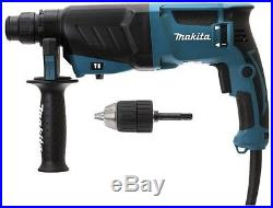 Makita HR2630 X7 240v sds hammer drill 800w drill, hammer & chisel 3 yr warranty