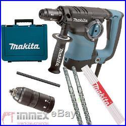Makita HR2811FT Bohrhammer Kombihammer SDS Plus + Schnellspannfutter Meterstab