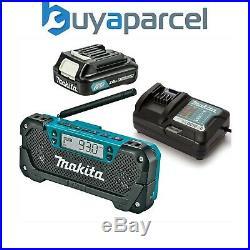 Makita MR052 10.8V CXT Job Site AM / FM Battery Cordless Radio +Battery +Charger