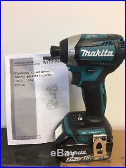 Makita New 18V Cordless 3-Speed Brushless Impact Driver XDT14 + (1) BL1850B