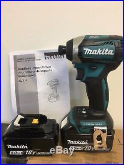 Makita New 18V Cordless 3-Speed Brushless Impact Driver XDT14 + (2) BL1850B