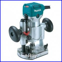 Makita RT0700C 240V 1/4 Corded Plunge Fixed Base 2 in 1 Router Trimmer +Guide