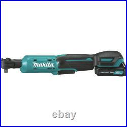 Makita RW01R1 12V max CXT Li-Ion 3/8 in. / 1/4 in. Square Ratchet Kit (2 Ah) New