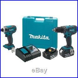 Makita Tools XT211MB 18V LXT Li-Ion Cordless Drill & Driver Kit with Battery Pack