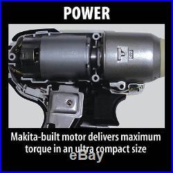 Makita WT01W 12V Max Lithium-Ion Battery Anvil Cordless 3/8 Impact Wrench Kit