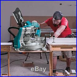 Makita X2 LXT Brushless Cordless Dual Bevel Sliding Compound Miter Saw with Laser