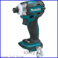 Makita XDT09Z Brushless 1/4 Impact Driver 18V Cordless 3-Speed Quick Shift