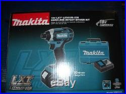 Makita XDT111 18V LXT 3.0 Ah Cordless Li-Ion 1/4 Hex Impact Driver Kit NEW TOOL