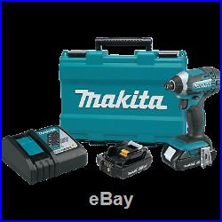 Makita XDT11R 18V LXT LithiumIon Compact Cordless Impact Driver Kit (2.0Ah)