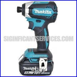 Makita XDT13 18V Brushless Cordless 1/4 Impact Driver Drill BL1850B 5.0 Battery