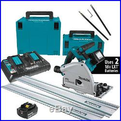 Makita XPS01PTJ 36V 6-1/2 Plunge Circular Track Saw with 2 rails+Connectors New