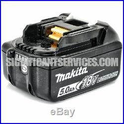 Makita XRJ05Z 18V Li-Ion Brushless Cordless Reciprocating Saw 2 5.0 Ah Batteries