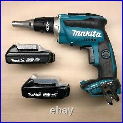 Makita XSF03Z 18 V Cordless Blushless Drywall Screw Gun Push Drive w 2 Batteries