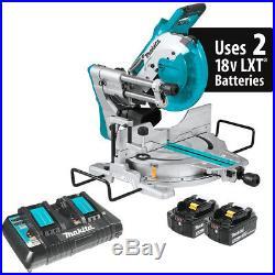 Makita XSL06PT 36-Volt LXT 10-Inch Dual-Bevel Sliding Compound Miter Saw Kit