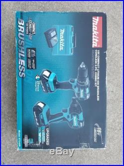 Makita XT248R 18 Volt Brushless Cordless Kit Hammer Drill & Impact Driver