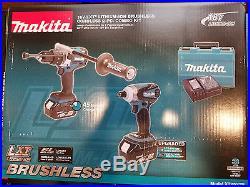 Makita XT252TB LXT 18-Volt 5.0Ah Hammer-Drill and Impact Driver Combo Kit